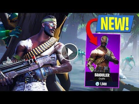 New Rambo Skin!! *Epic Bandolier Outfit* (Fortnite Battle