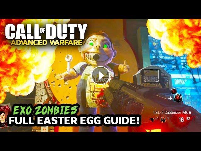 Call Of Duty Advanced Warfare Infection Dlc Exo Zombies Easter Egg Tutorial Gameplay Walkthrough