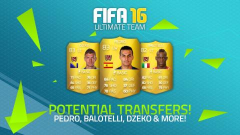 POTENTIAL FIFA 16 TRANSFERS! - PEDRO, BALOTELLI, DŽEKO & MORE! | FIFA Ultimate Team