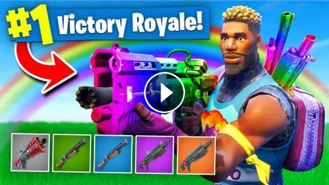 the rainbow shotgun only challenge in fortnite battle royale