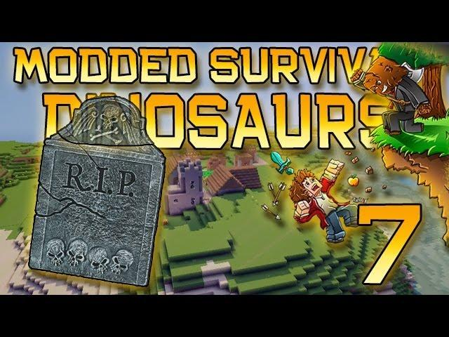 Minecraft: Modded Dinosaur Survival Let's Play w/Mitch! Ep. 7 - TRICERATOPS!