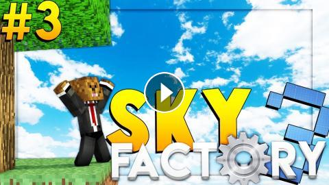 Minecraft SkyFactory 3 - BEATING THE STONE AGE - Modded Survival #3