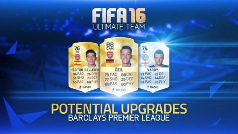 POTENTIAL BPL UPGRADES! - ÖZIL, VARDY, BELLERÍN & MORE! | FIFA 16 ULTIMATE TEAM