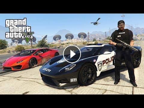 GTA 5 Mods - PLAY AS A COP MOD!! GTA 5 Police Ford GT LSPDFR Mod