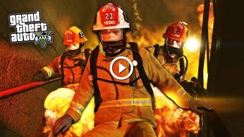 GTA 5 PC Mods - PLAY AS A FIREFIGHTER MOD! GTA 5 Firefighter Mod