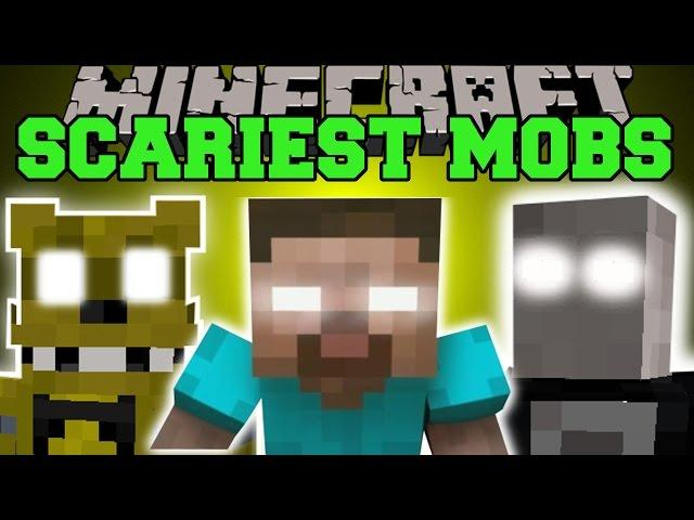 Minecraft: SCARIEST MOBS EVER (HEROBRINE, SLENDERMAN, GOLDEN FREDDY, & MORE!) Mod Showcase