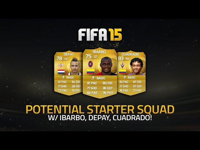 Op starter squad w ibarbo 2x5 skillers fifa 15 ultimate team