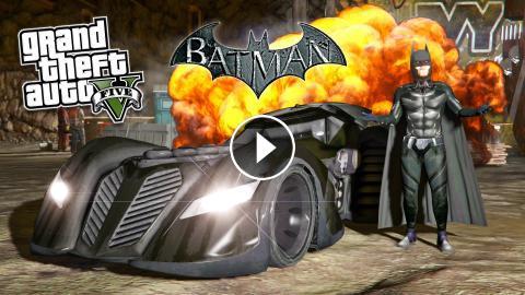 GTA 5 Mods ULTIMATE BATMAN MOD! GTA 5 Batman, Batmobile