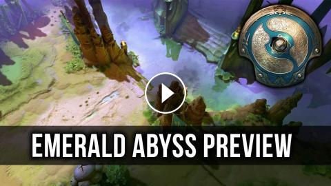 Dota 2 The International 2018 Map Terrain - The Emerald Abyss Preview