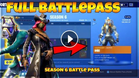 Fortnite Season 6 Full Battle Pass Season 6 Skins Fortnite Season