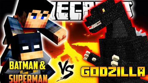 Minecraft Superman & Batman VS Godzilla (Mod Adventures)