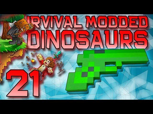 Minecraft: Modded Dinosaur Survival Let's Play w/Mitch! Ep. 21 - EMERALD GUN MOD!
