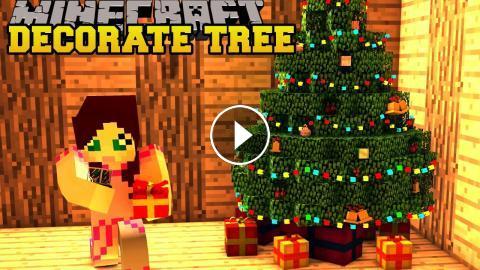 Minecraft Christmas Tree Decoration Challenge Toy Trains