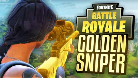 MY FIRST GOLD SNIPER! (Fortnite Battle Royale)