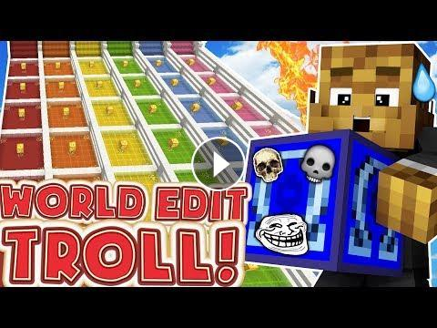 pranking eachother with world edit minecraft lucky block race