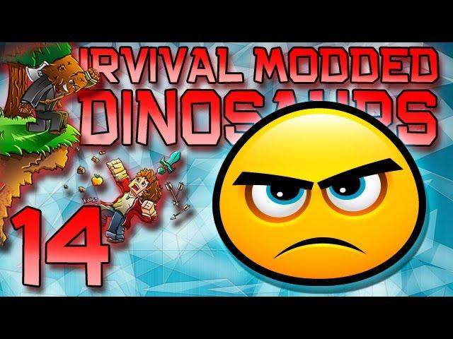 Minecraft: Modded Dinosaur Survival Let's Play w/Mitch! Ep. 14 - How To Build With Lag!
