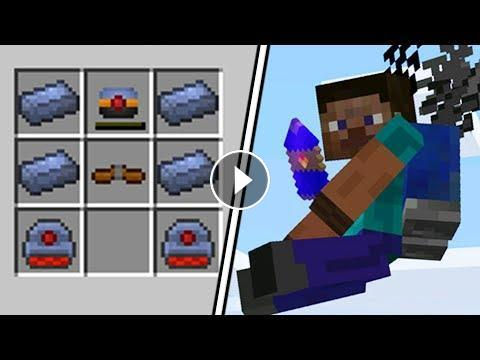 how to make a jetpack in minecraft pc