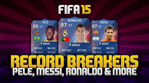 A TEAM OF RECORD BREAKERS! PELÉ, RONALDO, MESSI & MORE! | FIFA 15 Ultimate Team