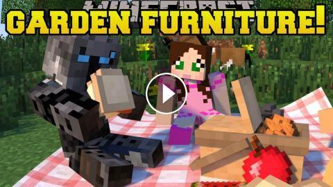 Minecraft: GARDEN FURNITURE!!! (GAZEBO, HAMMOCK, BENCHES