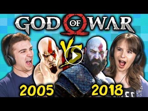 GOD OF WAR ORIGINAL GAME vs TODAY (2005 vs 2018) (React: Gaming)