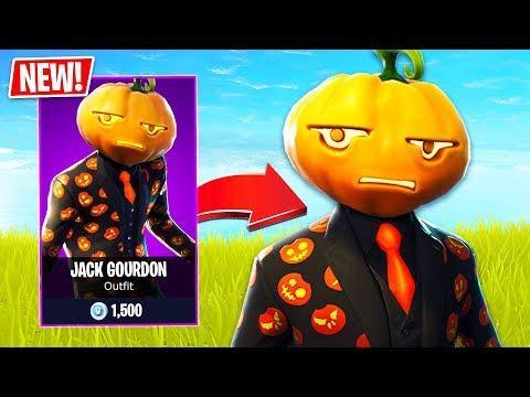 New Halloween Jack Gourdon Pumpkin Skin In Fortnite Fortnite