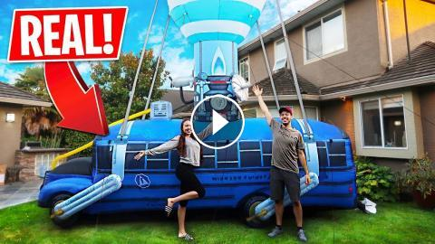 We Bought A Real Fortnite Battle Bus