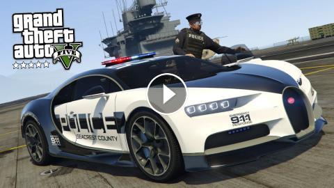 GTA 5 Mods - PLAY AS A COP MOD!! GTA 5 Police Bugatti Chiron Mod