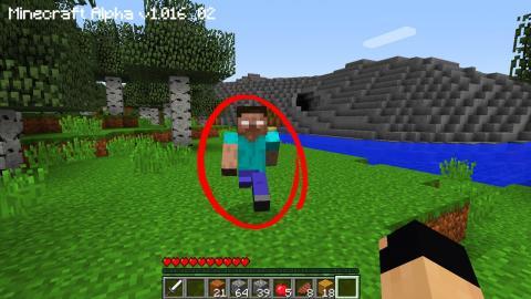 Minecraft: CAÇANDO O HEROBRINE ! #17 ELE APARECEU