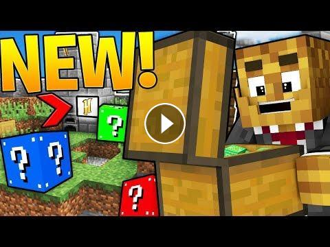 BRAND NEW MINECRAFT HYPIXEL MINIGAME - LUCKY BLOCK SKYWARS