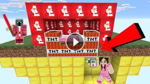 Minecraft Explosive Santa Lucky Block Bedwars Modded Mini Game