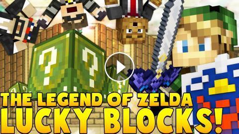 ZELDA LUCKY BLOCK MOD CHALLENGE (GOD SWORDS & SHIELDS