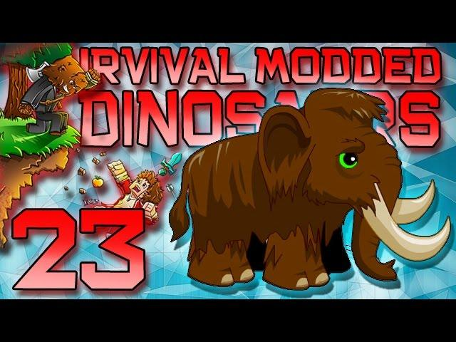 Minecraft: Modded Dinosaur Survival Let's Play w/Mitch! Ep. 23 - Baby Mammoth!