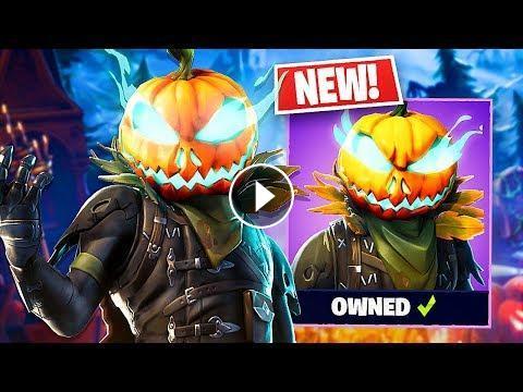New Halloween Hollowhead Pumpkin Skin Fortnite Live Gameplay