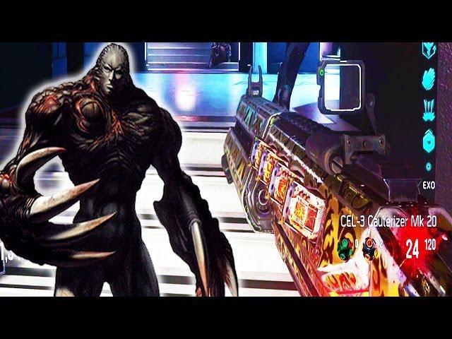 Exo Zombies Max Level Cel 3 Cauterizer Big Boss Zombie Advanced Warfare Mk 20 Gameplay