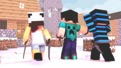 Minecraft: FROZEN - #07 INVADINDO A VILA