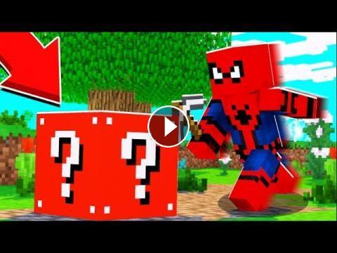 SPIDERMAN LUCKY BLOCK BEDWARS - MINECRAFT LUCKY BLOCK MOD