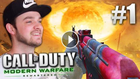 COD4 Remastered GAMEPLAY (Part #1) - Call of Duty Modern Warfare Remastered!