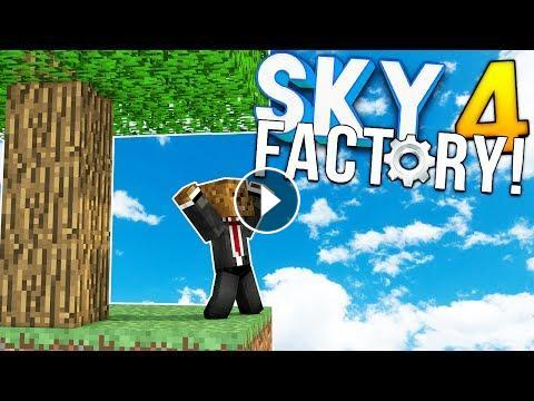 AUTOMATIC MACHINES - Minecraft SKY FACTORY 4 (FTB Feed The Beast) #5