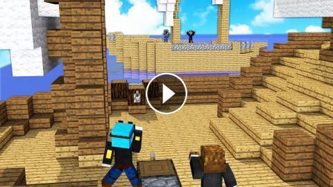 YouTuber Blocks in Minecraft PIRATE BATTLE - Minecrafter Mod