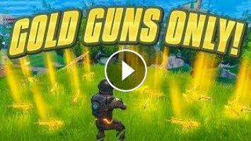 New Gold Guns Only In Fortnite Battle Royale Solid Gold