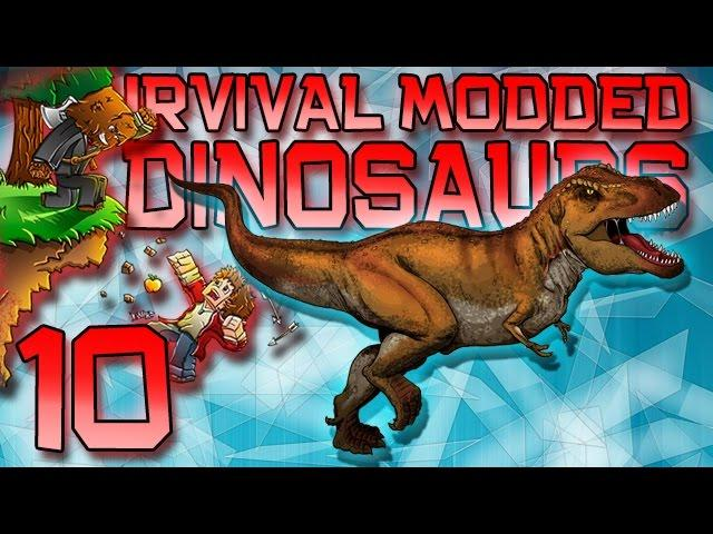 "Minecraft: Modded Dinosaur Survival Let's Play w/Mitch! Ep. 10 - T-REX ""FINALE!"""