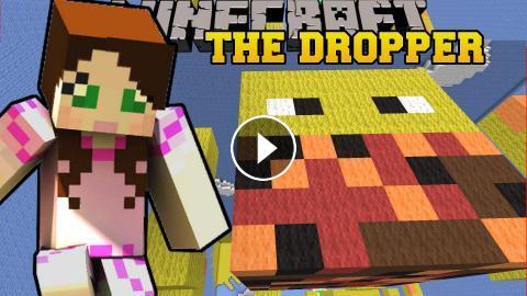 Minecraft: FALLING ONTO GIANT MOBS! - TALLCRAFT DROPPER - Custom Map