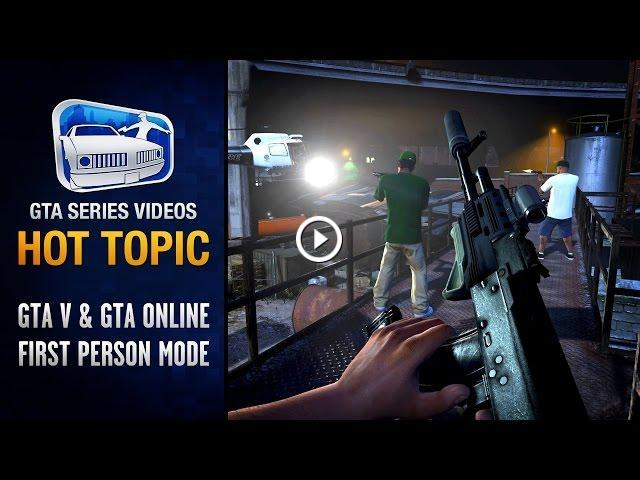 GTA 5 First Person Mode & Comparison (PS4 / Xbox One) - Hot