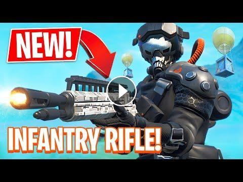 fortnite new gun legendary infantry rifle update gameplay live stream with typical gamer donate 5 and over shows on stream https streamlabs c - new gun in fortnite infantry rifle