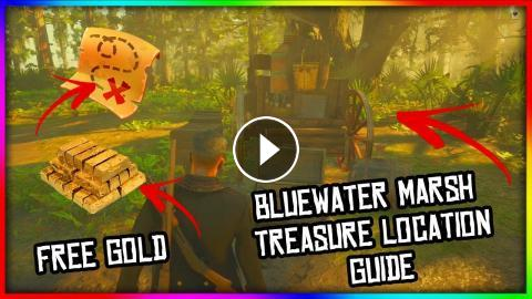 Red Dead Redemption 2 Online Bluewater Marsh Treasure Map Locations