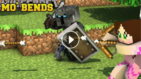 Minecraft MO BENDS EPIC PLAYER ANIMATIONS MOBS Mod Showcase - Minecraft teleport player to mob