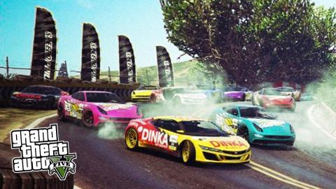 GTA 5 PS4 - INSANE GTA 5 STUNTS & JUMPS! Epic GTA 5 Races