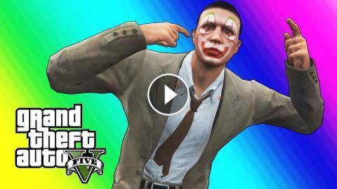 GTA 5 Online Funny Moments - Clown Salesman Rage! Lui Calibre Gta 5