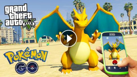 GTA 5 Mods - PLAYING POKEMON GO IN GTA 5 MOD!! GTA 5 Pokemon