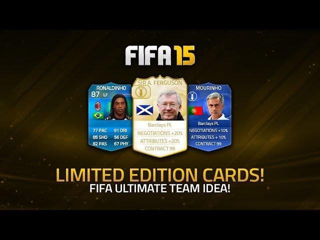 LIMITED EDITION LEGEND MANAGER CARDS ON FIFA ULTIMATE TEAM? | FIFA 15 Ultimate Team